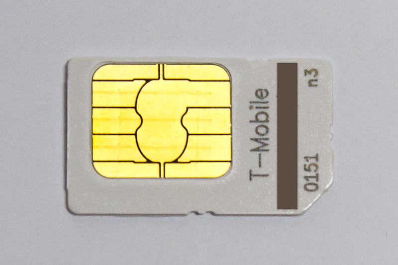 An obsolete T-Mobile SIM card
