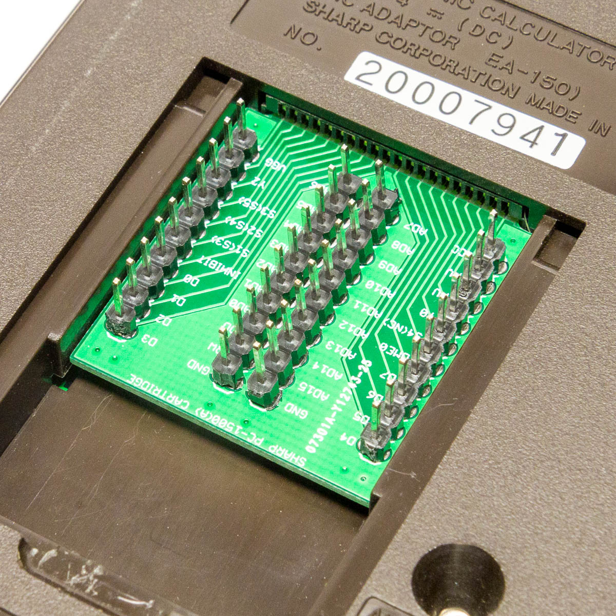 Sharp Debug Cartridge inserted