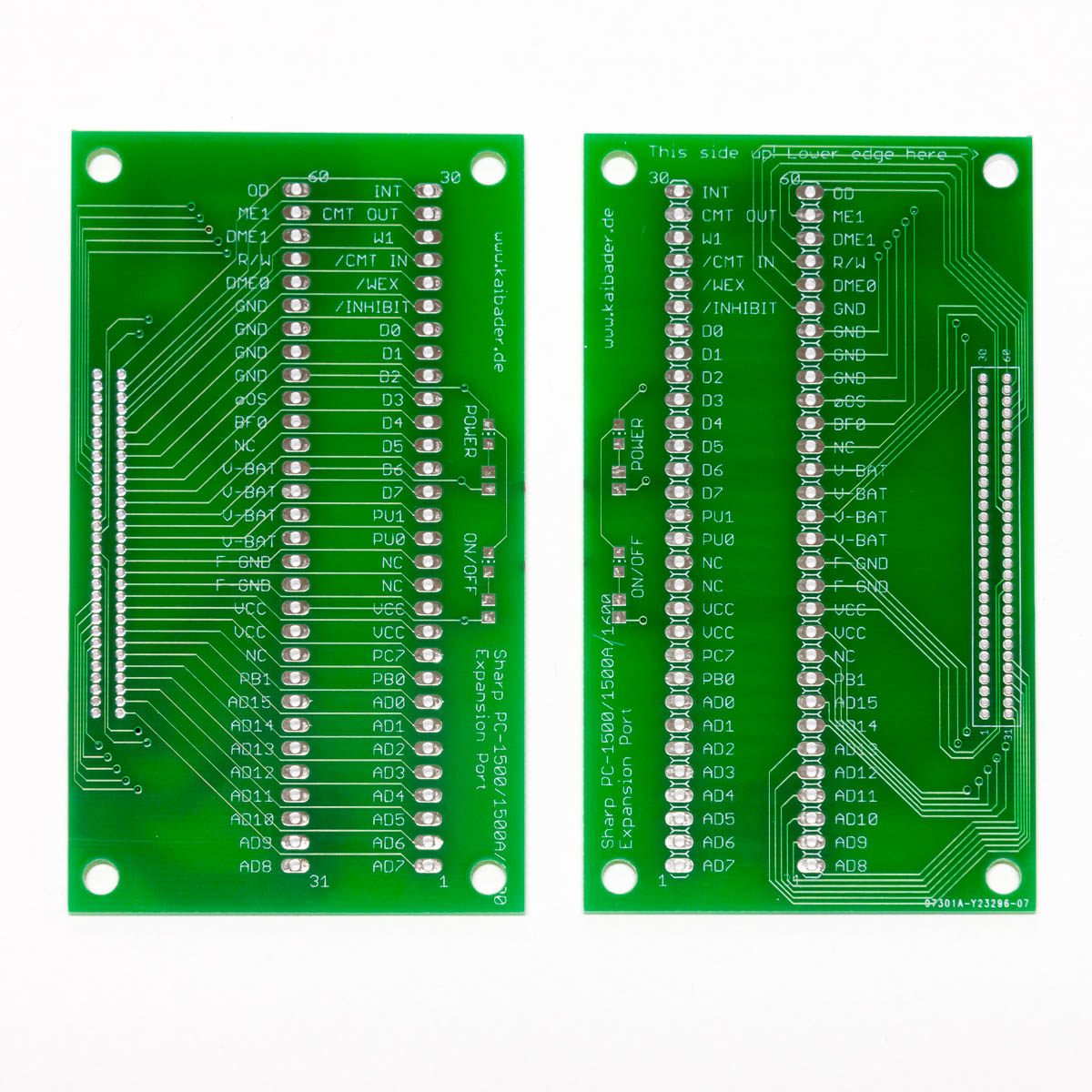 Sharp PC-1500 Breakout Board PCBs