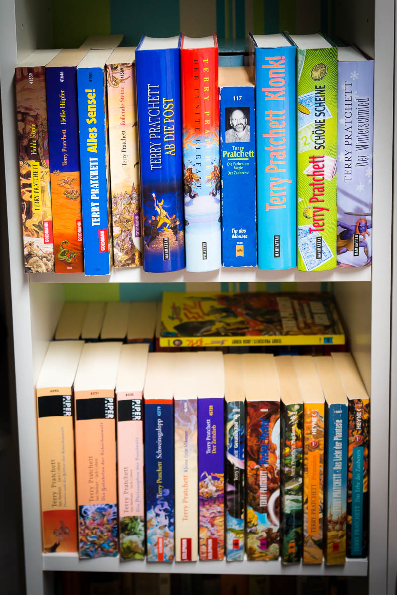 Terry Pratchett Book Shelf
