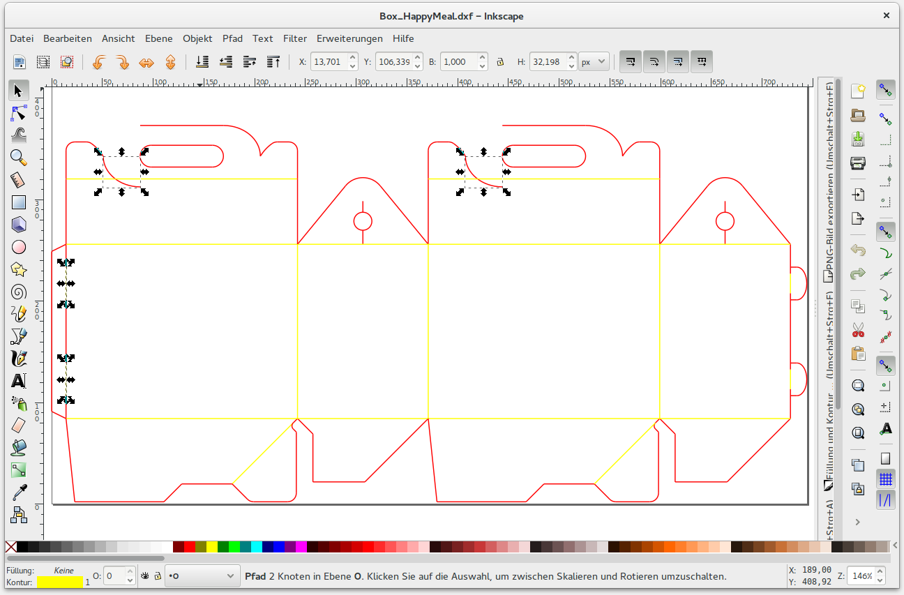 Fixing DXF File with Inkscape