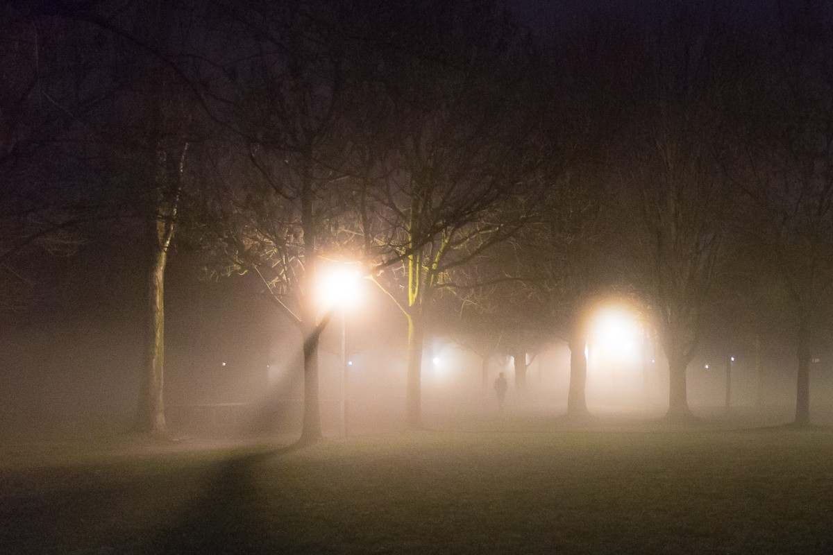 A really foggy evening in Munich… Just like in a fairy tale…