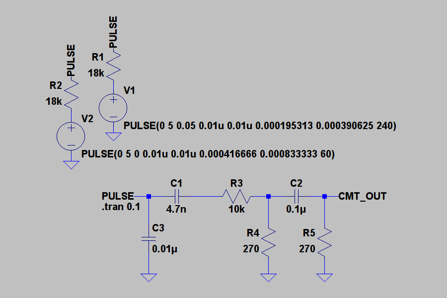 Sharp CMT-OUT LTspice Schematic
