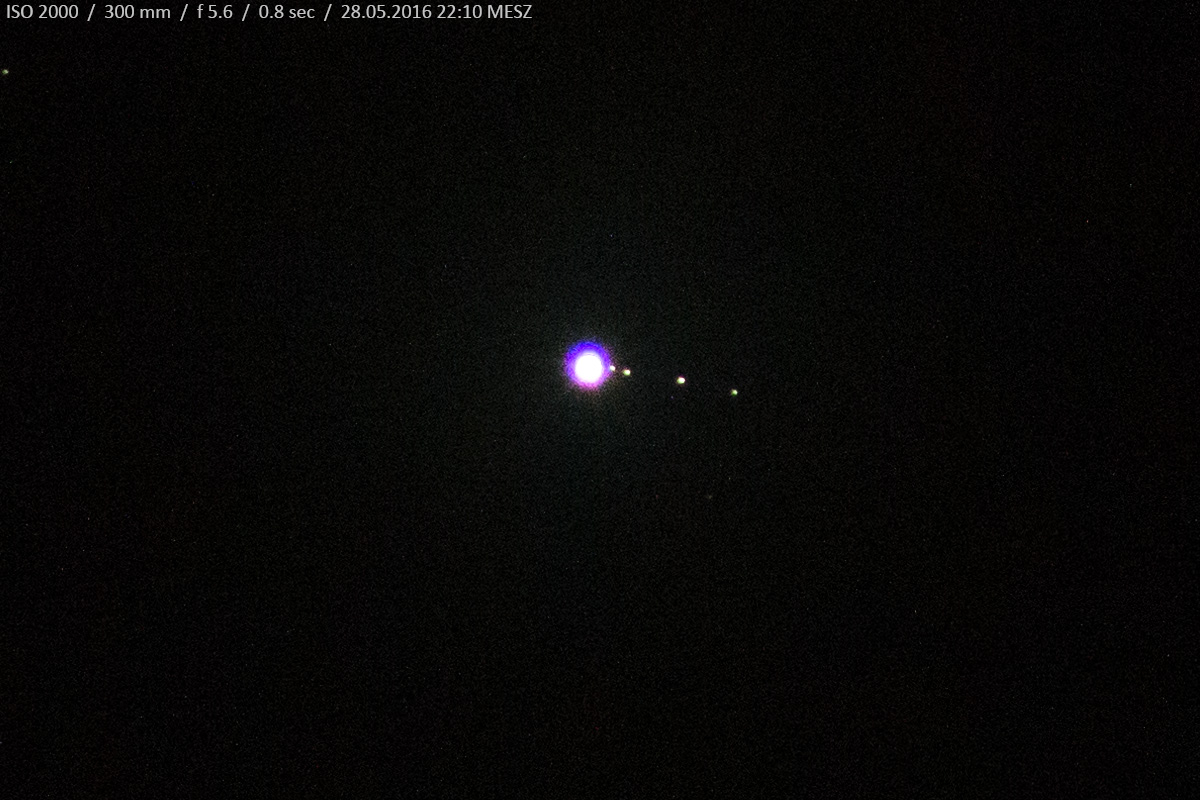 DSLR Photo Jupiter Europa Io Ganymed Callisto